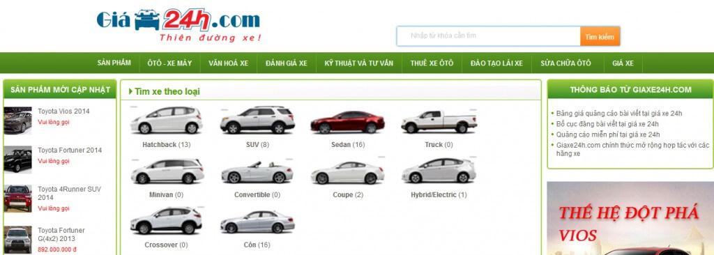 dự án giá xe khóa học marketing online moa