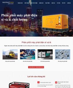 may phat dien thiết kế website bằng wordpress