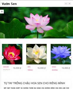 vuon sen khách hàng thiết kế website bằng wordpress