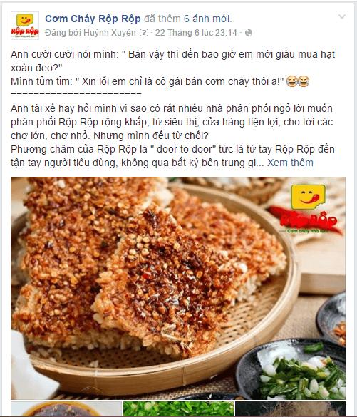 Thông điệp quảng cáo trên Facebook