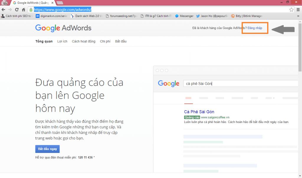 Thiết lập quảng cáo Google