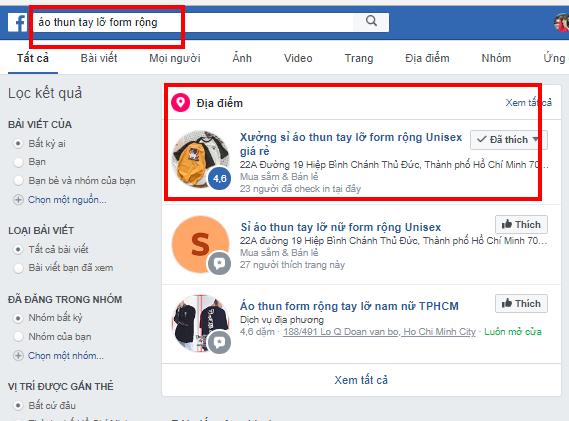 Top từ khóa về áo thun tay lỡ trên Facebook