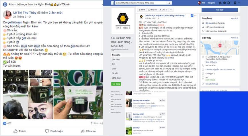 kinh doanh online bang gel lot mun tren fanpage