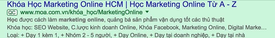 mau quang cao khoa hoc marketing online