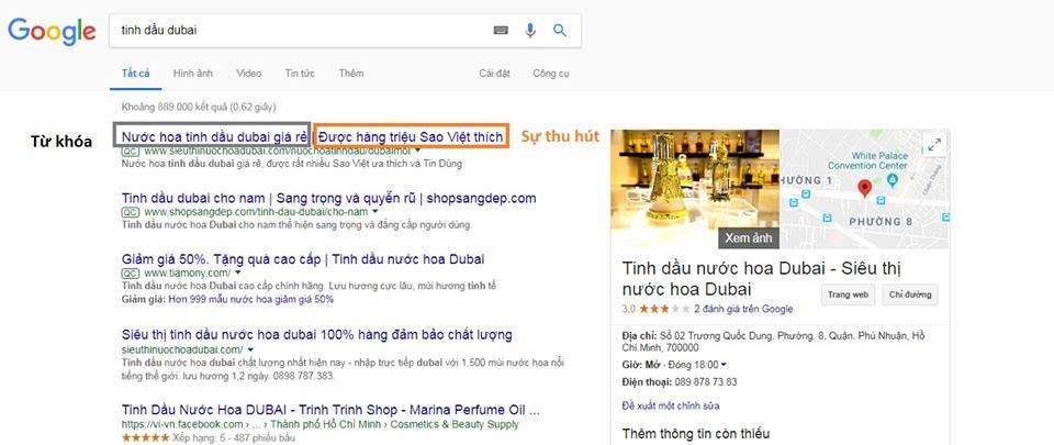 thông điệp chạy quảng cáo google adwords